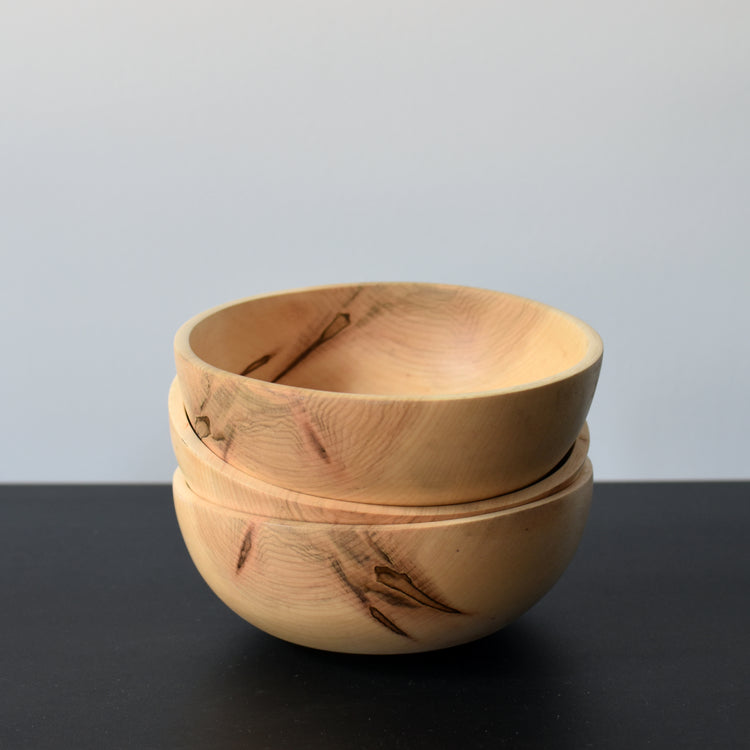 Southfork Timber Handcrafted Maple Wooden Bowls