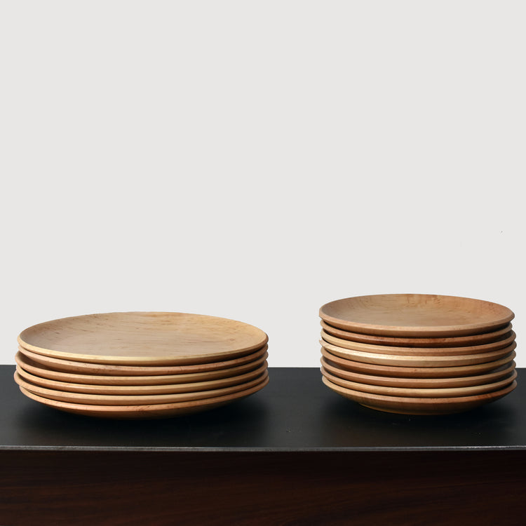 Southfork Timber Handcrafted Wooden Maple Plates