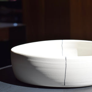Nested Serving Bowl with Lines