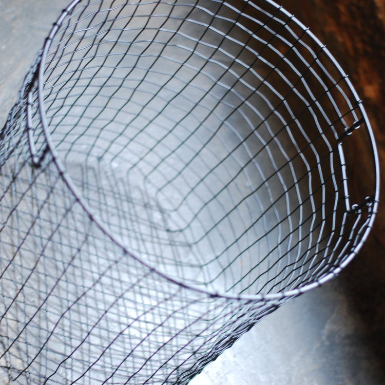 Black Wire Basket Steel+Plank