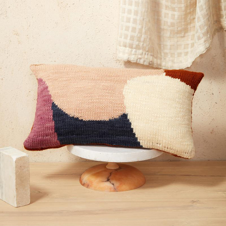 Minna Goods Hillside Lumbar Pillow Rust
