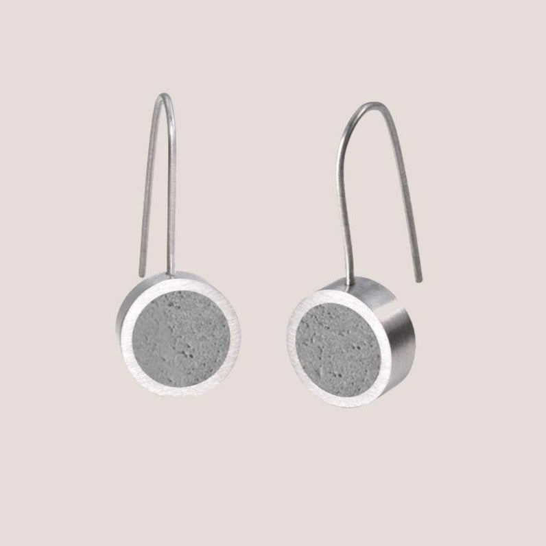Simple drop Concrete jewelry earrings