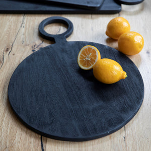 Black Mango Wood Serving Board