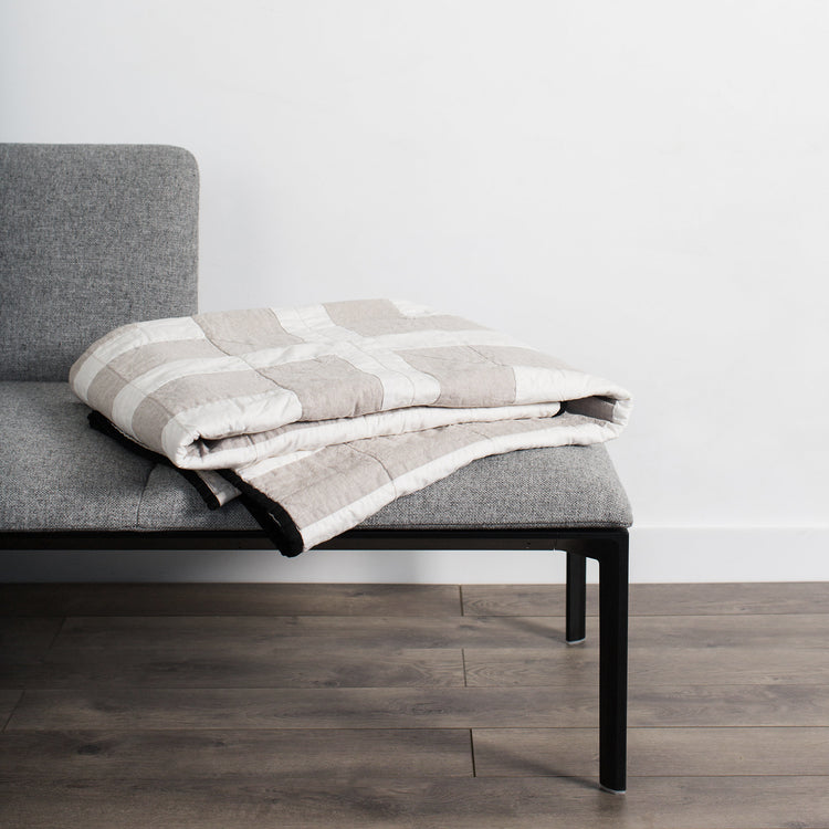 Louise Gray Throw Quilt No. 7 steel+plank