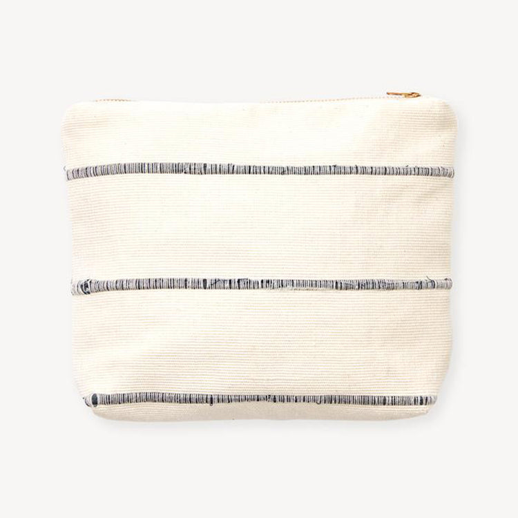 minna goods recycled striped pouch