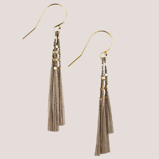 Abacus Row Weightless Silk Kiki Earrings  Steel + Plank