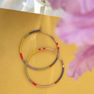 Toro Hoop Earrings in Horizon Abacus Row