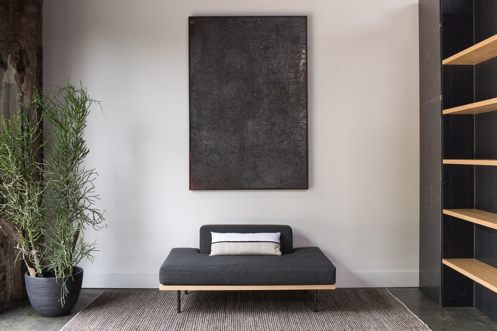 Steel+Plank chaise lounge