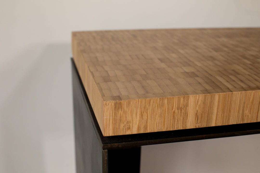 Plyboo Console Table Steel+Plank bamboo