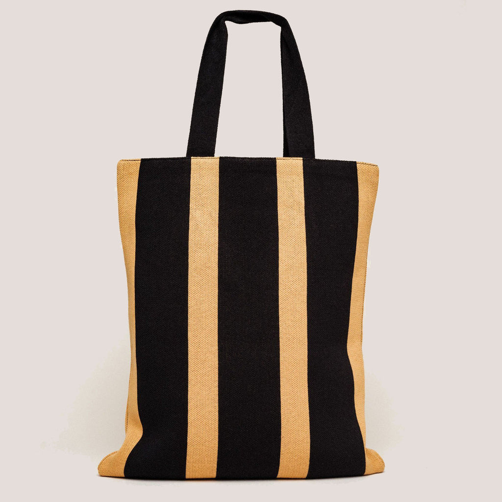 Hansel from Basel bag knit cotton striped tote
