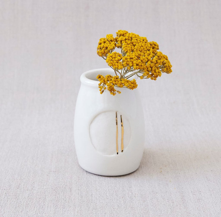 Honeycomb Studio  Milk Jar Bud Vases