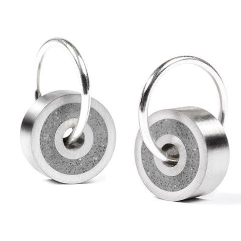 Stainless And Concrete Earrings