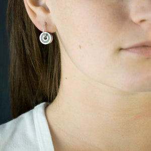 Konzuk Stainless And Concrete Earrings Steel+Plank