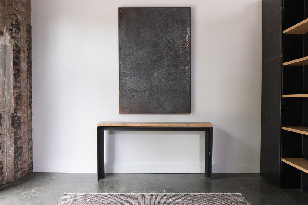 Plyboo Console Table Steel+Plank