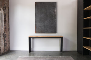 Plyboo Console Table Steel+Plank custom built