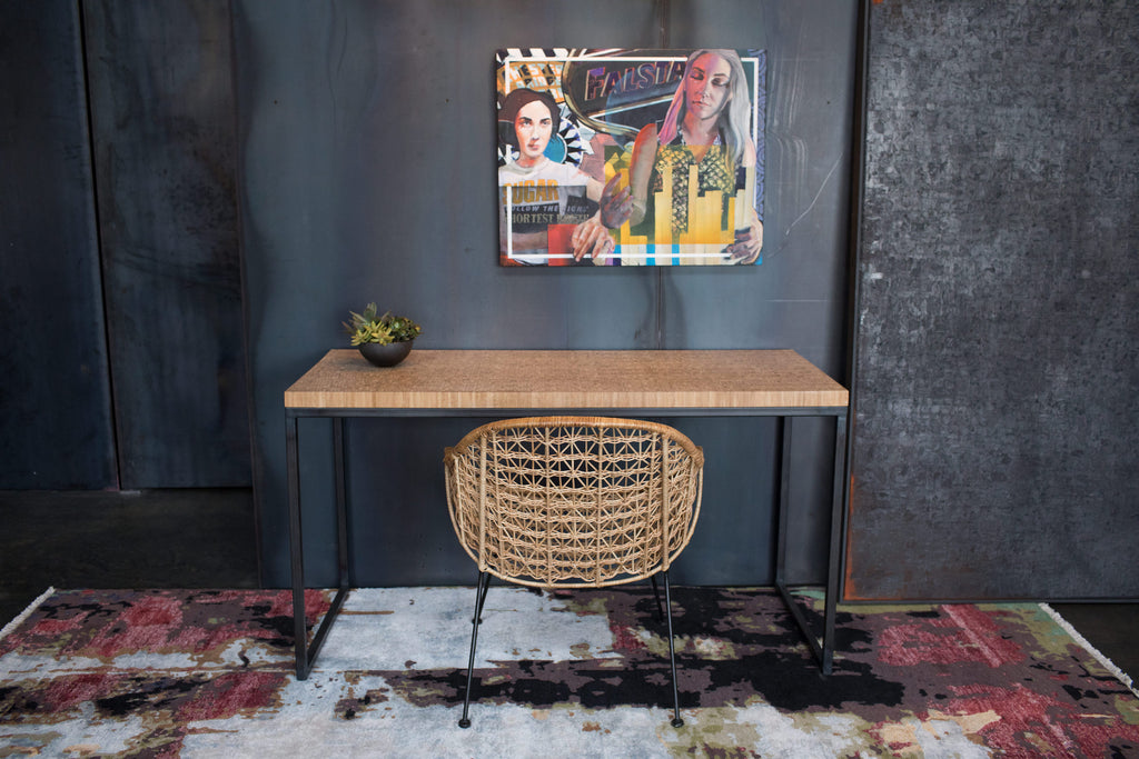 Bamboo plyboo desk custom furniture athens ga Steel + Plank