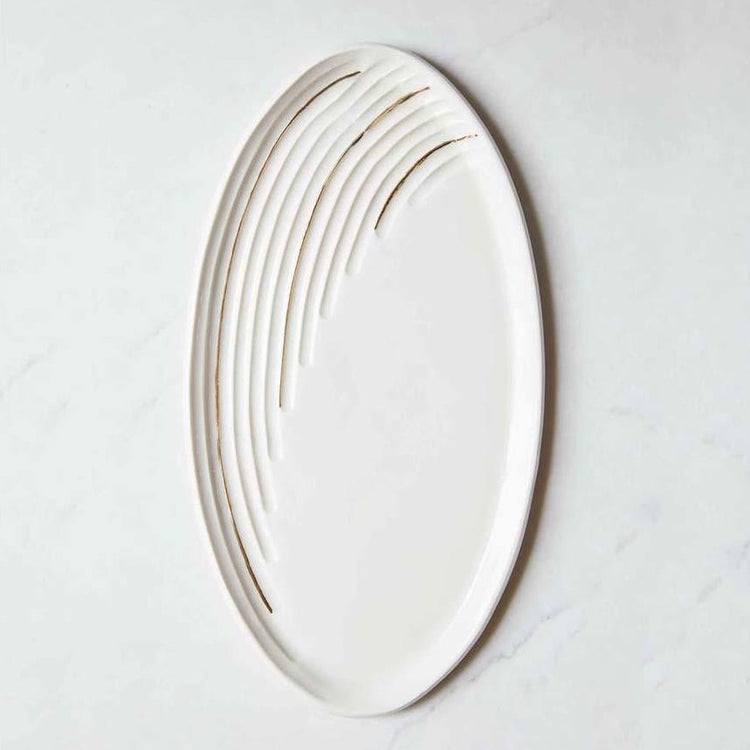 Honey Comb Ceramic Tidal Platter