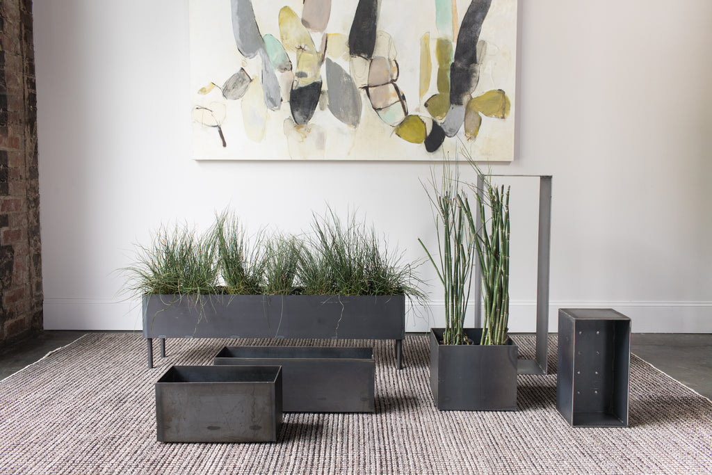 Simple Steel Planters Steel+Plank custom fabrication