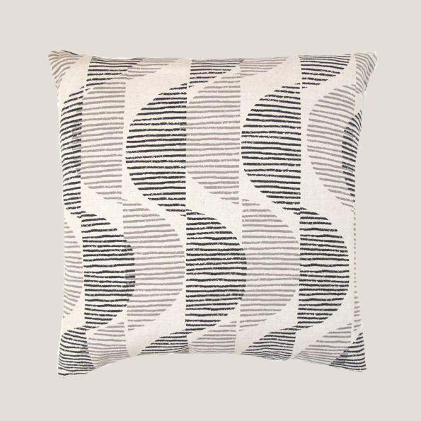 Sway Pillow in Licorice + Fog