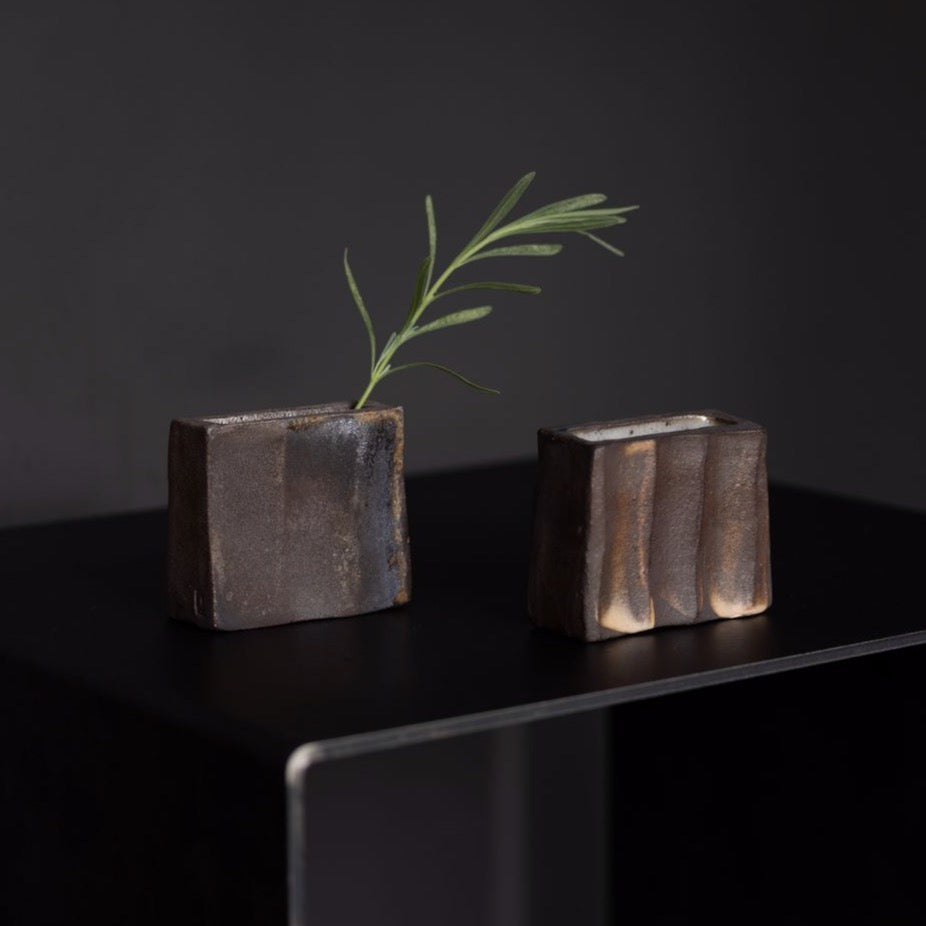 Wood Fired Wedge Vases