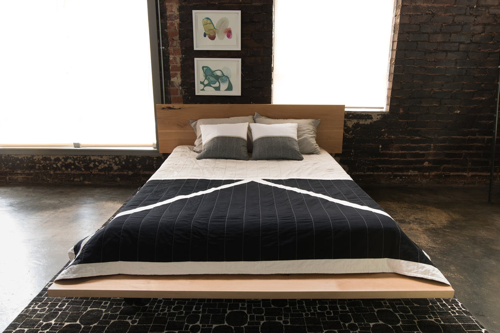 Solid Plank platform bed