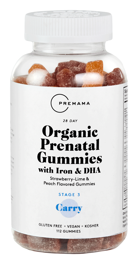 Organic Prenatal Gummies with Iron & DHA
