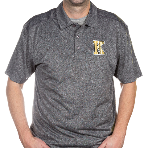 Grey Polo with Gold K
