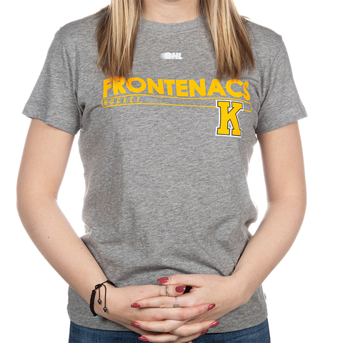 "Grey ""Frontenacs Hockey"" Kids T-Shirt"