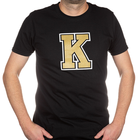 Black T-Shirt with Gold K