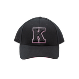 Black with Pink K