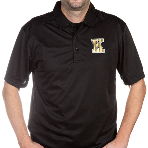 Black Polo with Gold K