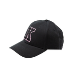Black Hat with Pink K