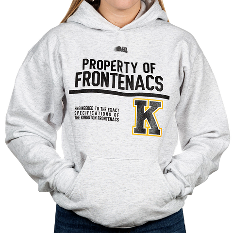 "Light Grey ""Property of Frontenacs"" Kids Sweater"