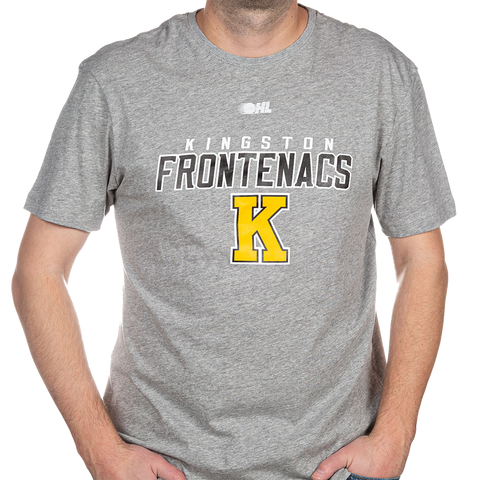 "Grey ""Kingston Frontenacs"" with Yellow K T-Shirt"