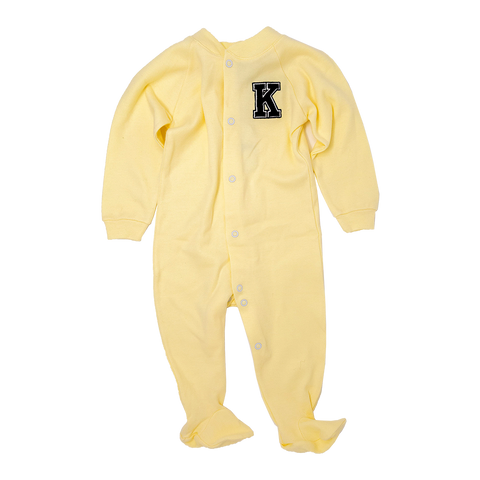 Yellow Sleeper with Black K