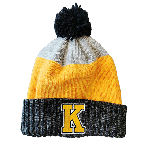 CCM Striped Yellow K Toque