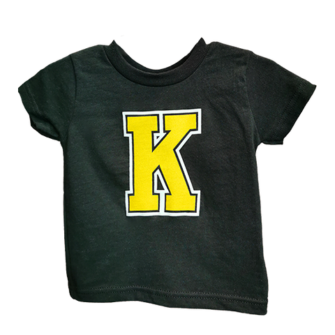 Toddler Black T-Shirt with K