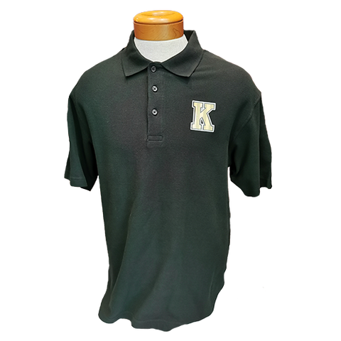 Black Cotton Polo With Gold K