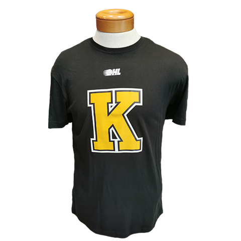 Black T-Shirt with Yellow K