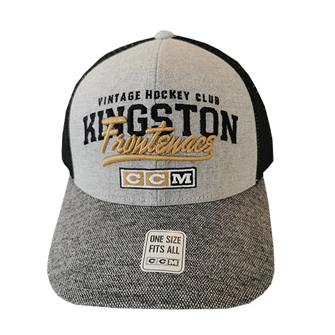 Gold Kingston Frontenacs Hat with Mesh Back