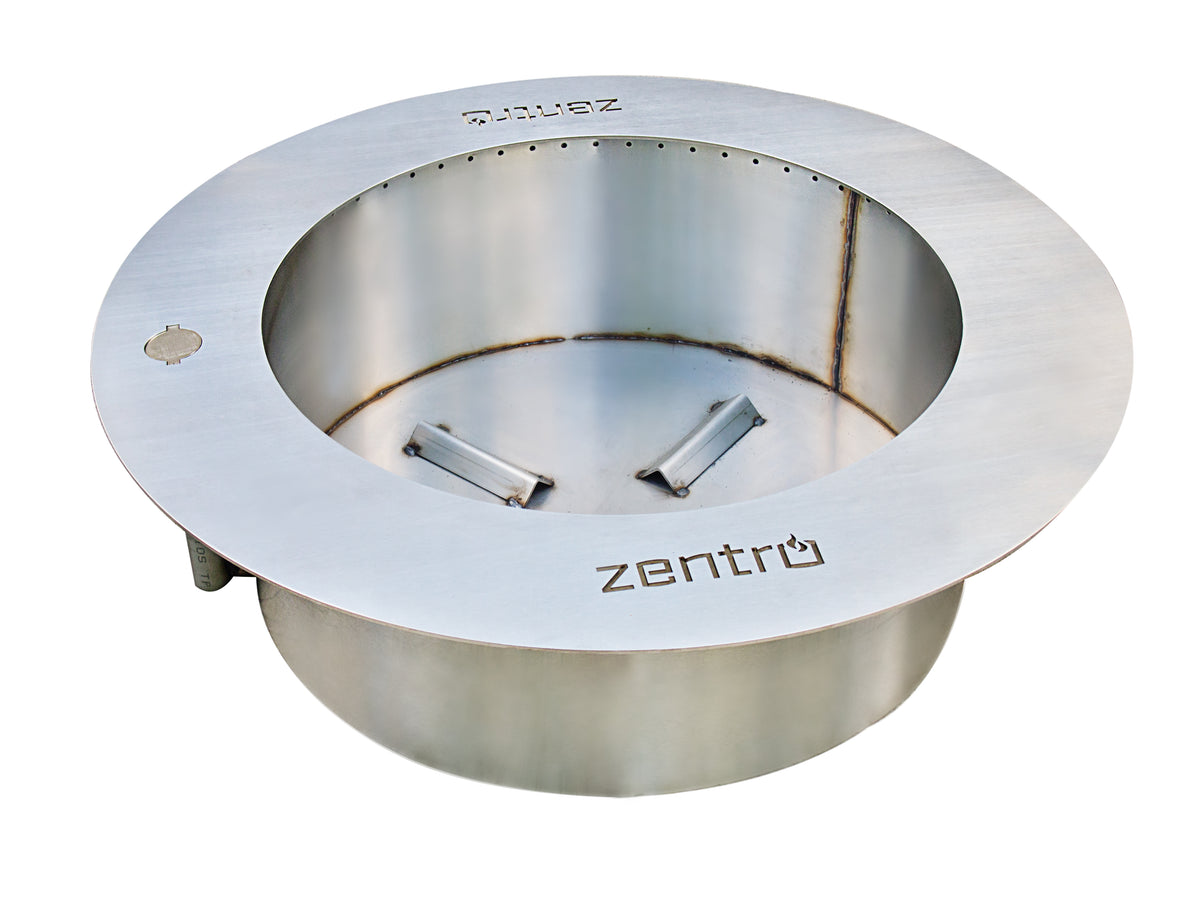 Zentro Round Fire Pit Stainless From Breeo Products