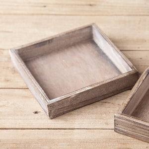 DTHY - Distressed Wooden Beverage Napkin Holder