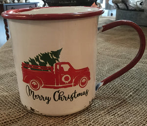 DTHY - Metal Little Red Truck Mug