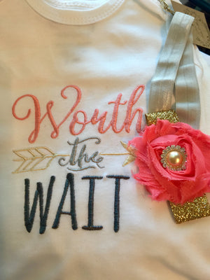 Worth the wait Love Bug - Baby Gown