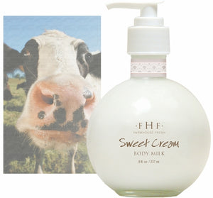 FHF Sweet Cream Body Milk Lotion, 10 oz.