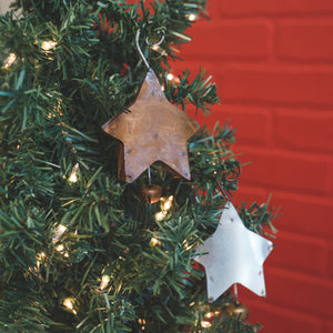 Galvanized/Rust Star Bells, Large