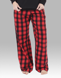 Red and Black Buffalo Flannel Pant