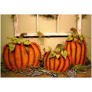 Large Orange Galvanized Pumpkin (pictured on left)