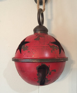 Antique Red Jingle Bell 7""