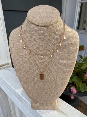 Gold Layered Necklace Set WH227